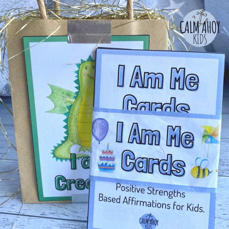 affirmation card gift, party favour and party bag for kids