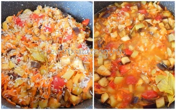 Летний овощной плов с рисом рецепт с фото пошаговый