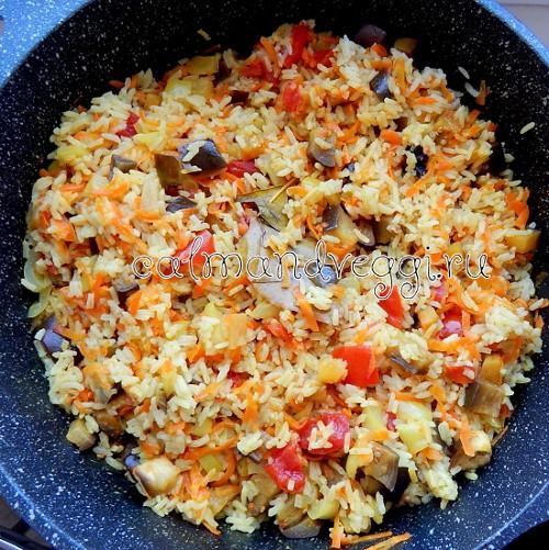 Летний овощной плов рецепт с фото пошаговый