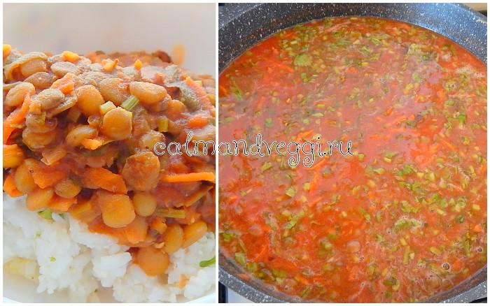 Постная подливка из чечевицы к гречке или рису, пошаговый рецепт с фото