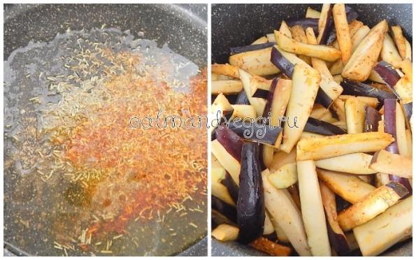 Баклажаны тушеный в томатном соусе шаг 1