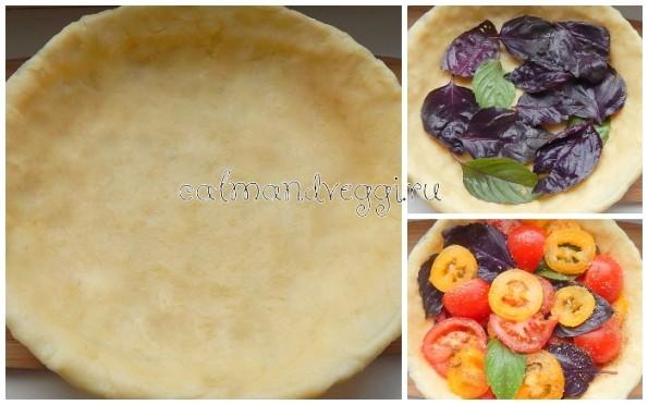 Пирог с помидорами и базиликом рецепт с фото