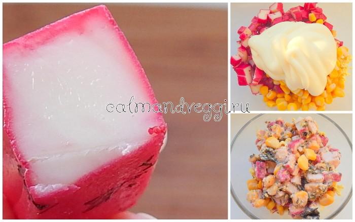 вегетарианские крабовые палочки рецепт с фото салат