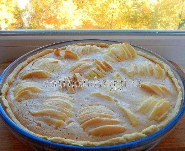 Яблочный пирог со сметаной рецепт с фото