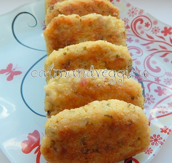 вегетарианские котлеты без мяса рисовые с сыром и орехами, как приготовить
