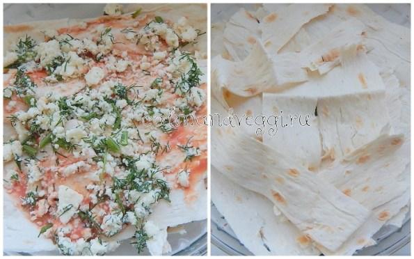 Слоеный сырный пирог из лаваша рецепт с фото