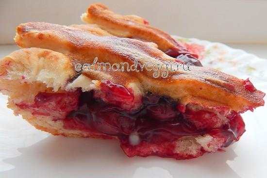 дрожжевой пирог с вишней рецепт с фото пошаговый