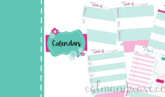 free calendar planner pages, monthly, weekly, daily view calmandwave feature