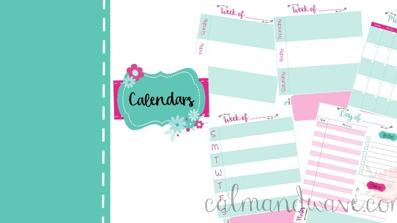 Free Calendar Planner Pages | Daily Page | Weekly View | Monthly View | Free Printable
