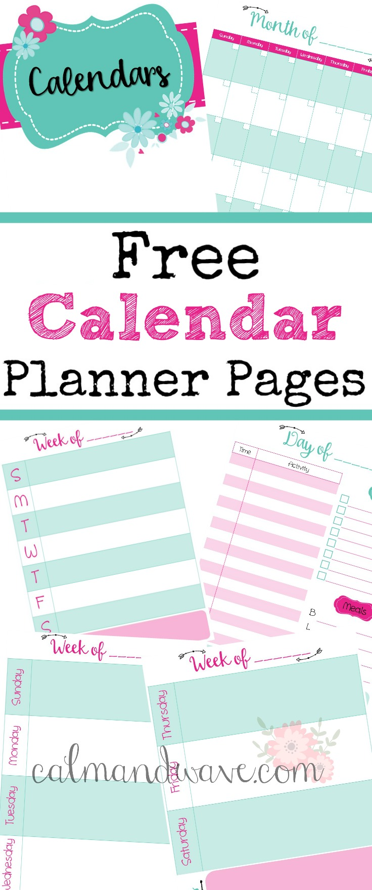 free calendar planner pages