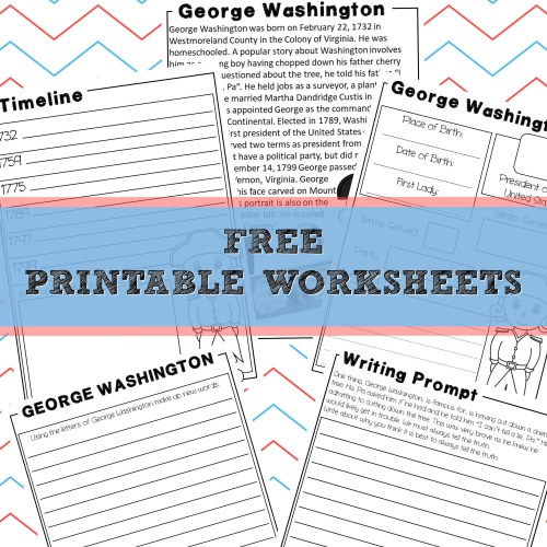 george washington printables free unit study presidents calm and wave printables
