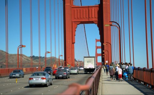 Golden Gate: In addition to its economic advantage, the Bay Area has more regional identity. Photo by Guillaume Paumier/Wikimedia Commons