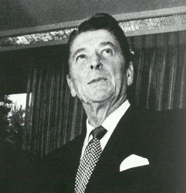 Jerry Brown with Ronald Reagan.