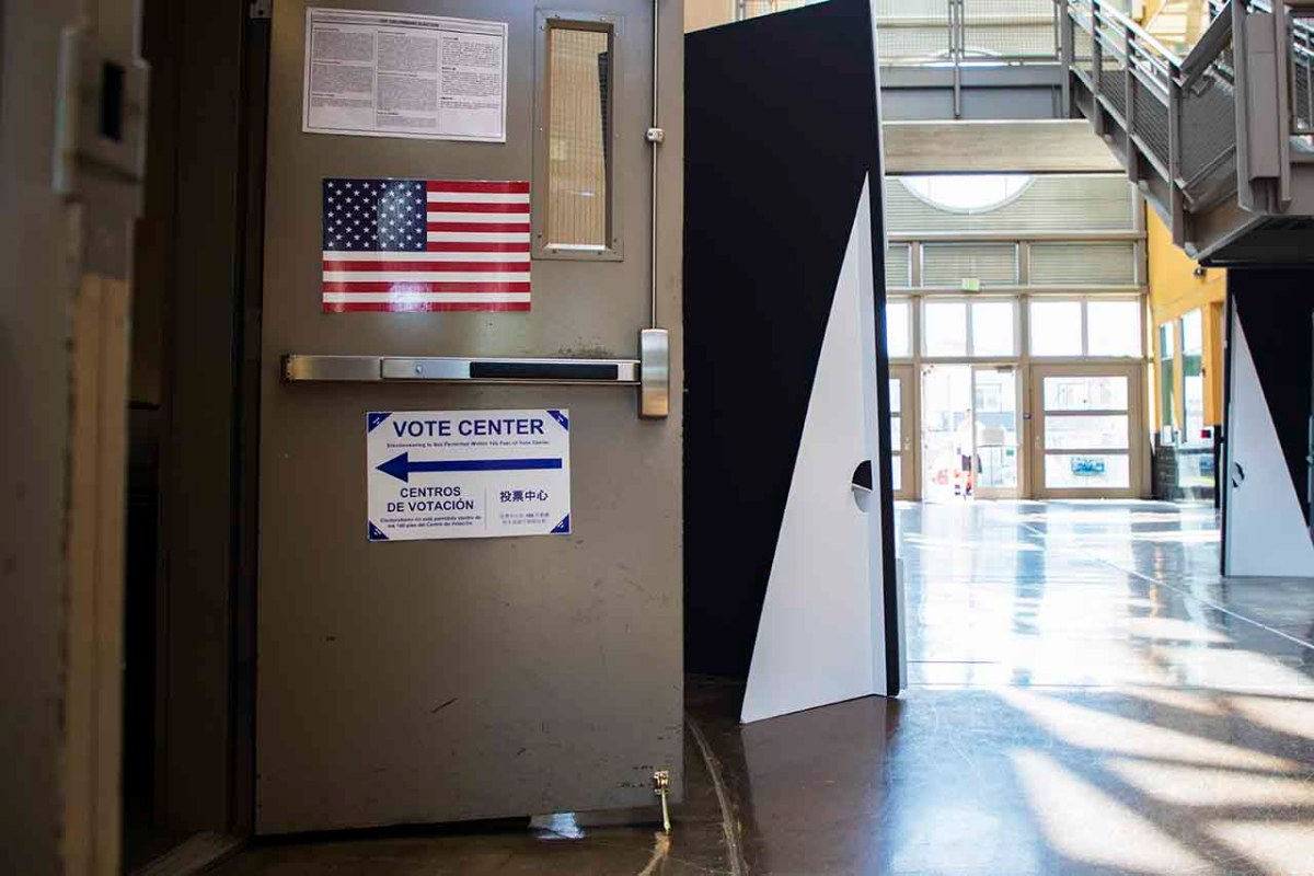 Voting Center in Sacramento Photo by Robbie Short for CALmatters