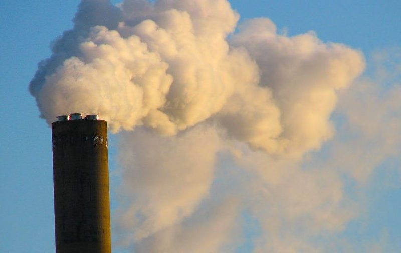 A smokestack is shown. Ontario will likely pull out of California's carbon market, leaving the cap-and-trade system in limbo.