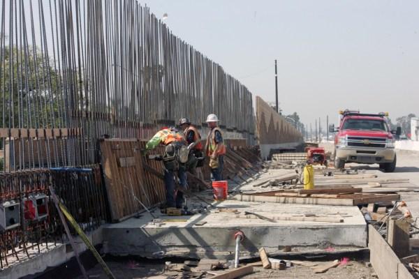 Road work in action in San Bernardino, photo via Caltrans