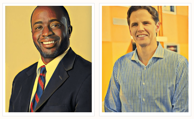 Tony Thurmond and Marshall Tuck