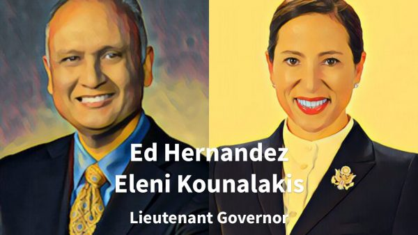 Ed Hernandez and Eleni Kounalakis are running to succeed Gavin Newsom as lieutenant governor.
