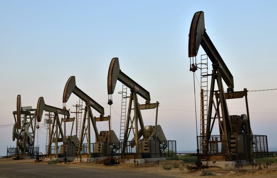 Oil money is flowing to many California Democrats this election season. Pumpjacks photo by John Ciccarelli, Bureau of Land Management.