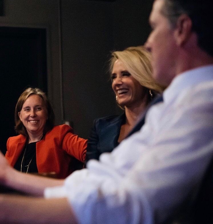 Incoming Chief of Staff Ann O'Leary, left, with Jennifer Siebel-Newsom and Gov.-elect Gavin Newsom