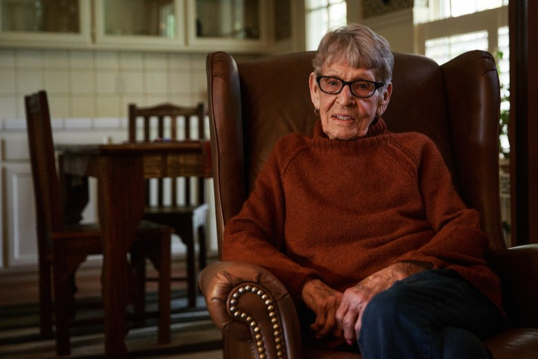 photo of June O'Sullivan, Jerry Brown's second cousin, poses for a portrait at her home in Colusa, California, December 17, 2018. Photo by Max Whittaker for CALmatters