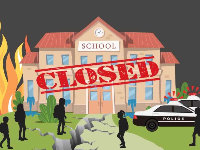 Disaster Days California Public School Closure Database 2002-2019. disaster days, school closures ; R-DESIGN/istock; syntika/istock; MilaArt/istock; NYstudio/istock; AlonzoDesign/istock; bortonia/istock