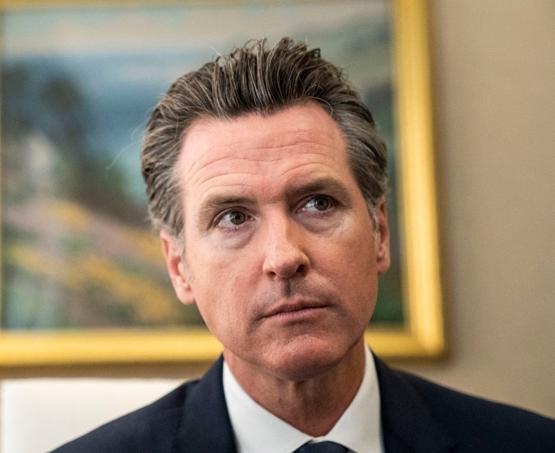 Gov. Gavin Newsom. Photo by Hector Amezcua for CalMatters