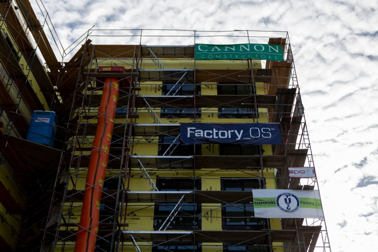 A Factory OS building in West Oakland. Photo by Anne Wernikoff for CalMatters