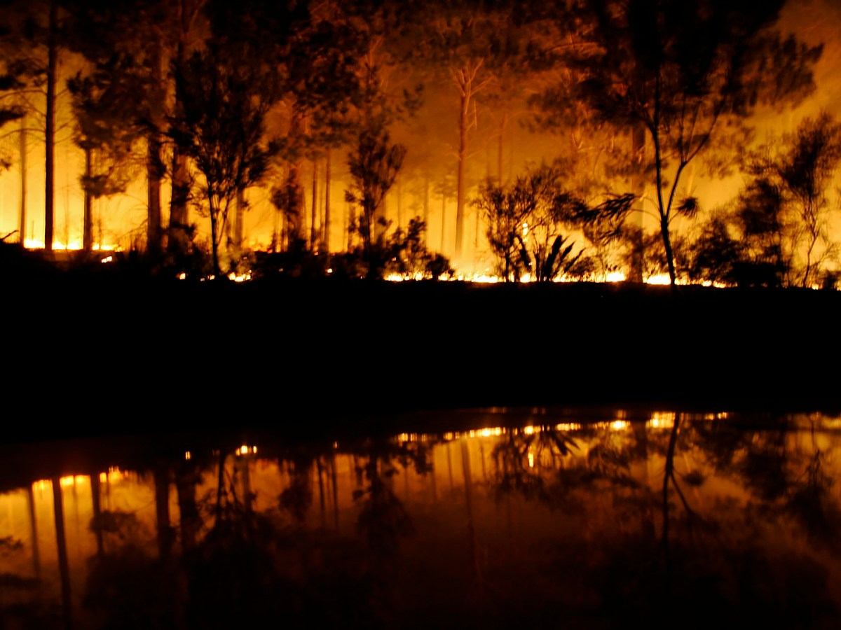 A fire rages in the state of Western Australia. Photo by Raymond Fruseth Gangstad via Flickr