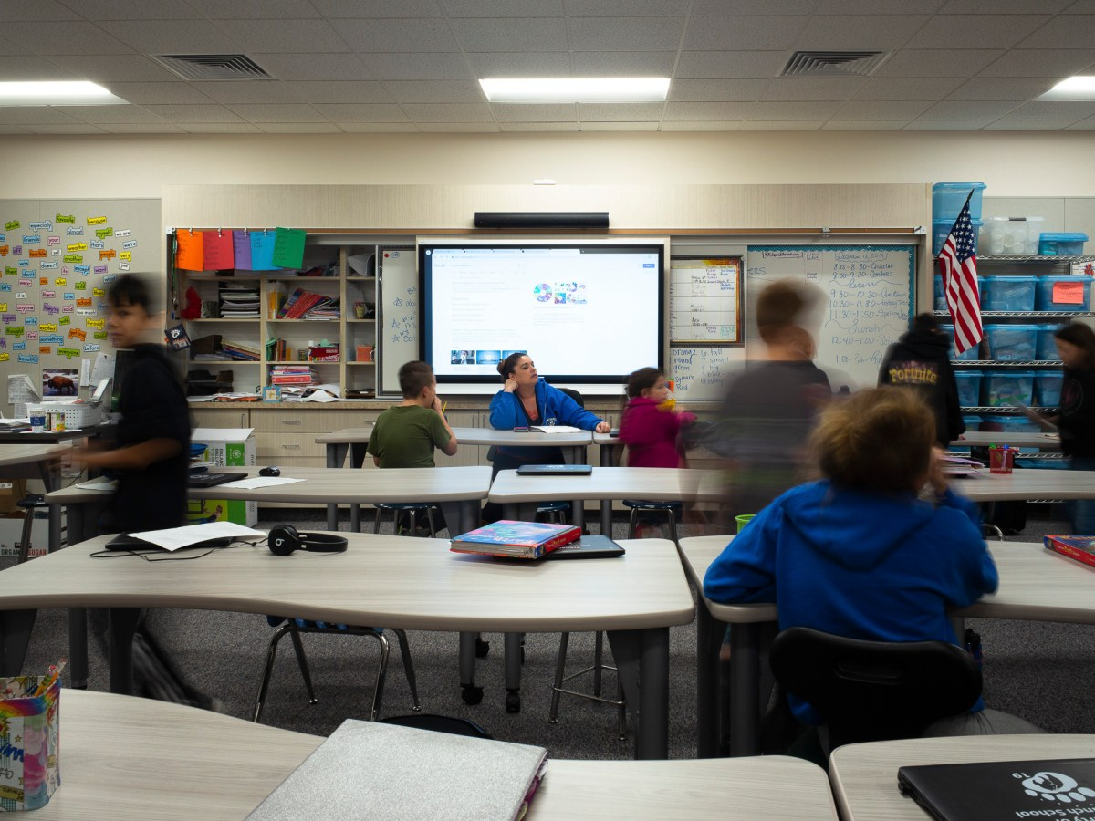 Mrs. Kilgore's fifth and sixth grade classroom on December 13, 2019. Smart classrooms were one of the upgrades the school received when the building was rebuilt.