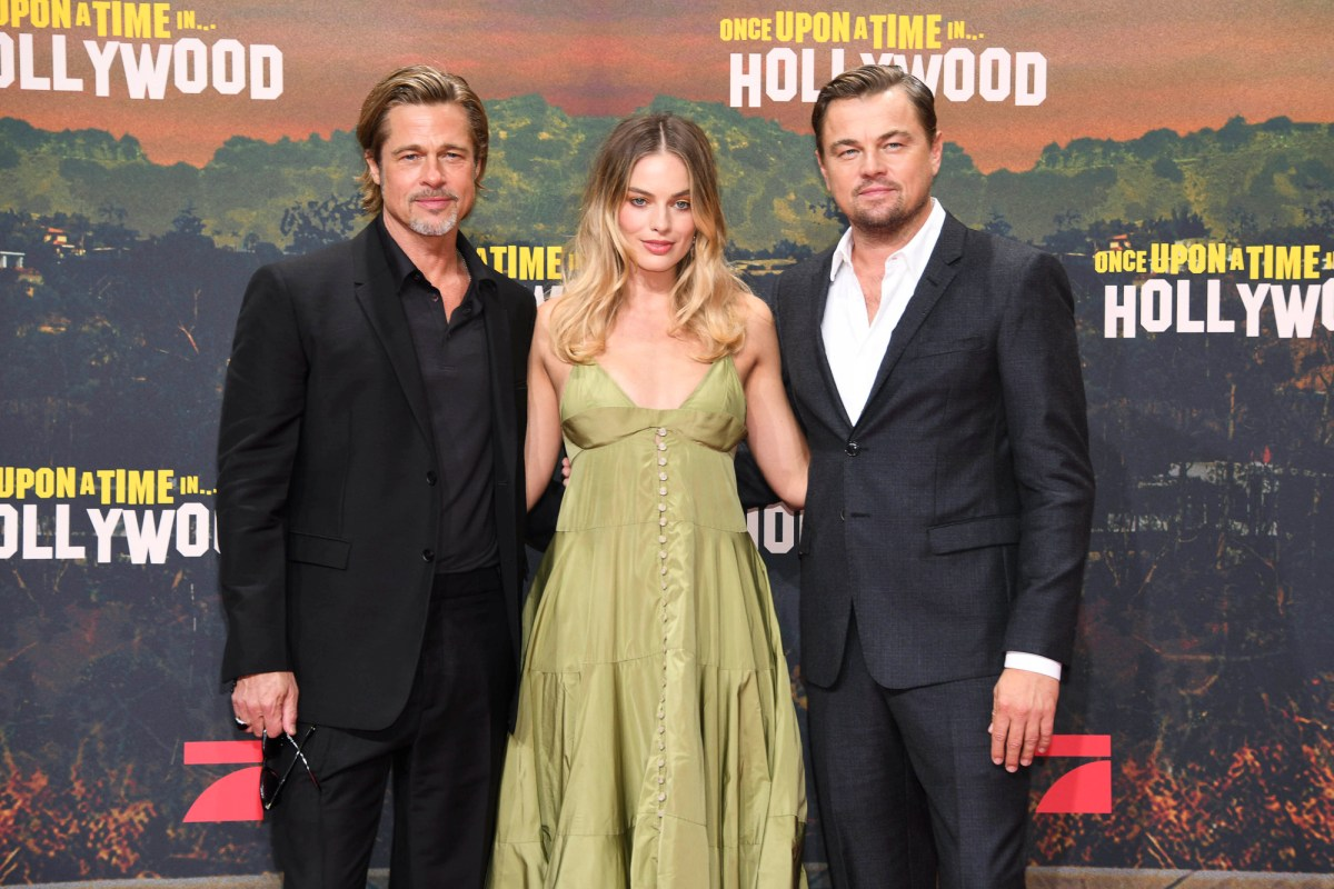 Brad Pitt, Leonardo DiCaprio and Margot Robbie at the German premiere of Once Upon A Time in Hollywood