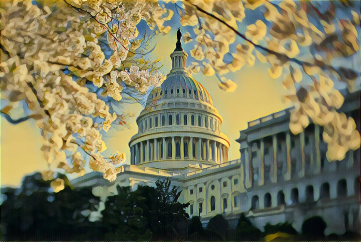 A photo illustration of the U.S. Capitol