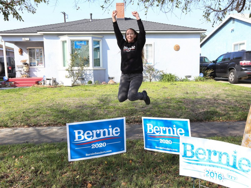 Jennifer Jennings, at her home in Long Beach, has made small donations to presidential Bernie Sanders over and over again. She is among the 20 Californians who have given most frequently —some daily — to 2020 presidential contenders. Photos by Iris Schneider for CalMatters