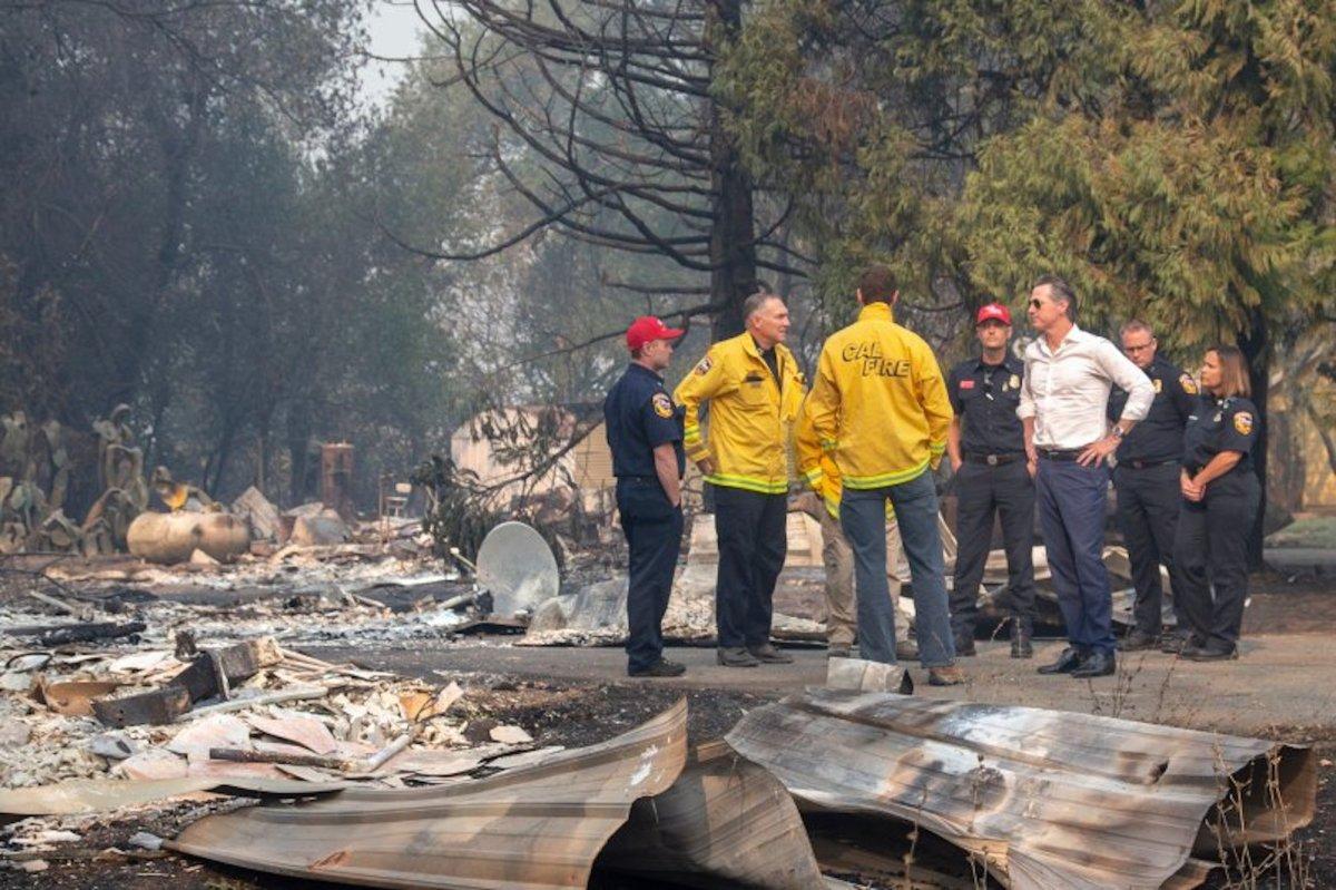 Newsom Kincade Fire PG&E