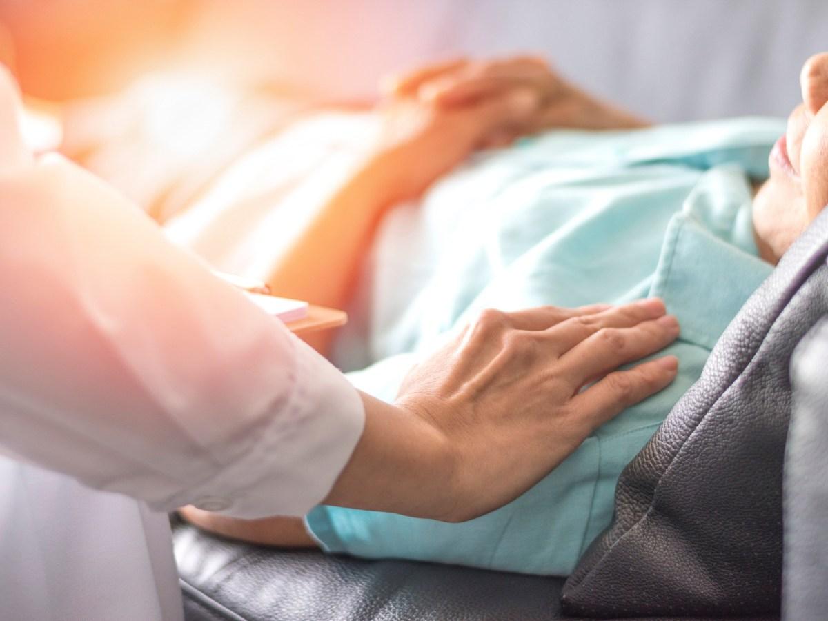 Photo illustration of nursing an elderly patient