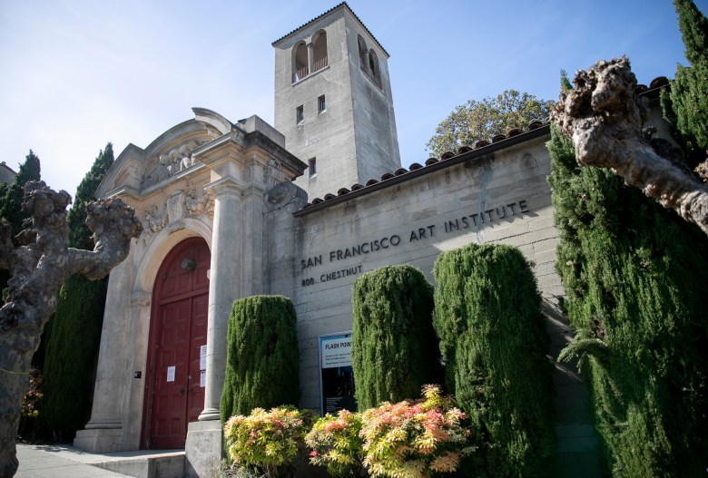 San Francisco Art Institute, founded in 1871, has been forced to closed due to financial pressures related to the coronavirus. Photo by Anne Wernikoff for CalMatters