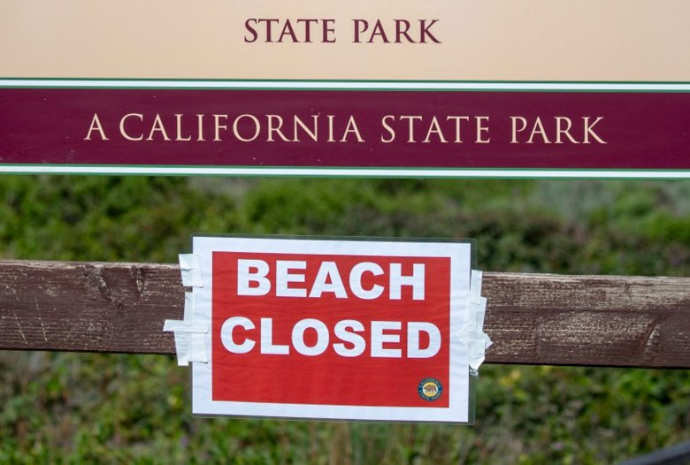 The beach remains closed at Garrapata State Park, in Big Sur, Calif., Tuesday, April 14, 2020. Photo by Karl Mondon/Bay Area News Group