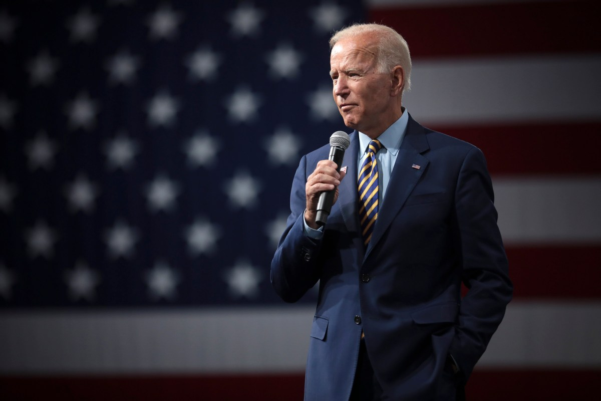 Democrative presidential candidate Joe Biden speaks at the Presidential Gun Sense Forum hosted by Everytown for Gun Safety and Moms Demand Action at the Iowa Events Center in Des Moines, Iowa on August 10, 2019. Photo by Gage Skimore via Flickr