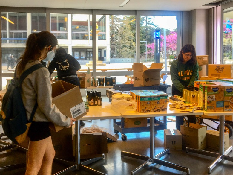 UC Berkeley's food pantry has continued to distribute staples during the pandemic. Photo by Vanessa Arredondo