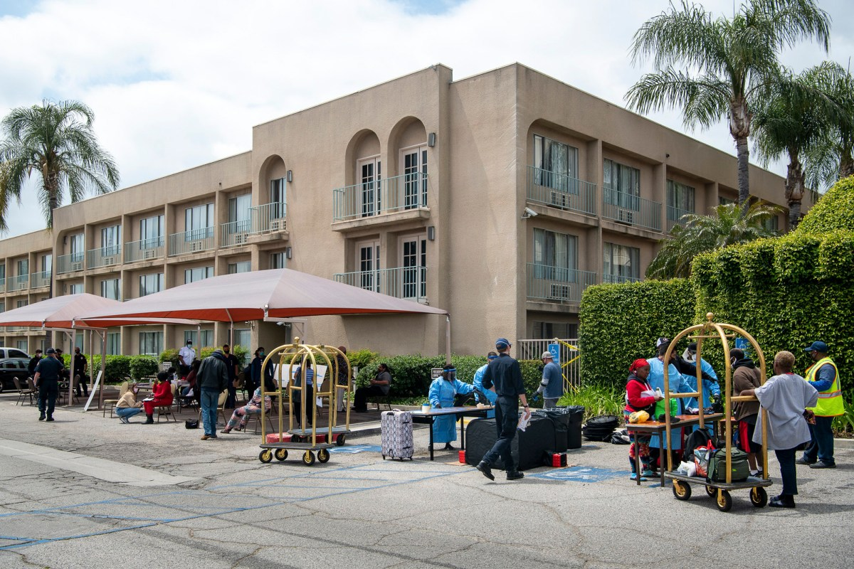 LA County is working with state, federal and local partners on Project Roomkey, an initiative to bring medically vulnerable people experiencing homelessness indoors during the COVID19 pandemic. Photo by Michael Owen Baker, County of Los Angeles via Flickr