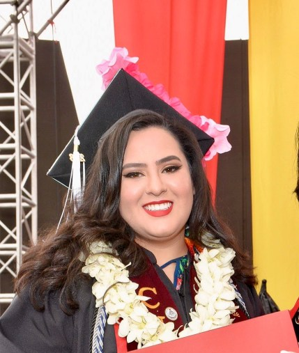 Raiza Dominguez De Anda graduated with a bachelor's degree in psychology at  California State University-Stanislaus in 2018. A DACA recipient, she celebrated today's  Supreme Court decision to preserve her path to citizenship. Photo courtesy of Raiza Dominguez De Anda