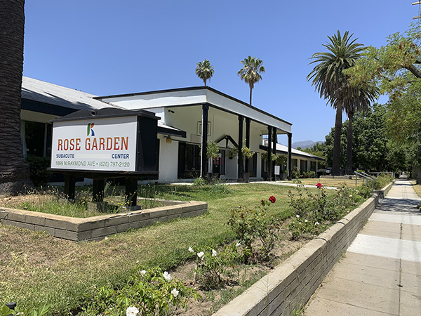 Rose Garden Subacute Healthcare Center in Pasadena on July 15, 2020. Photo by Karlene Goller for CalMatters