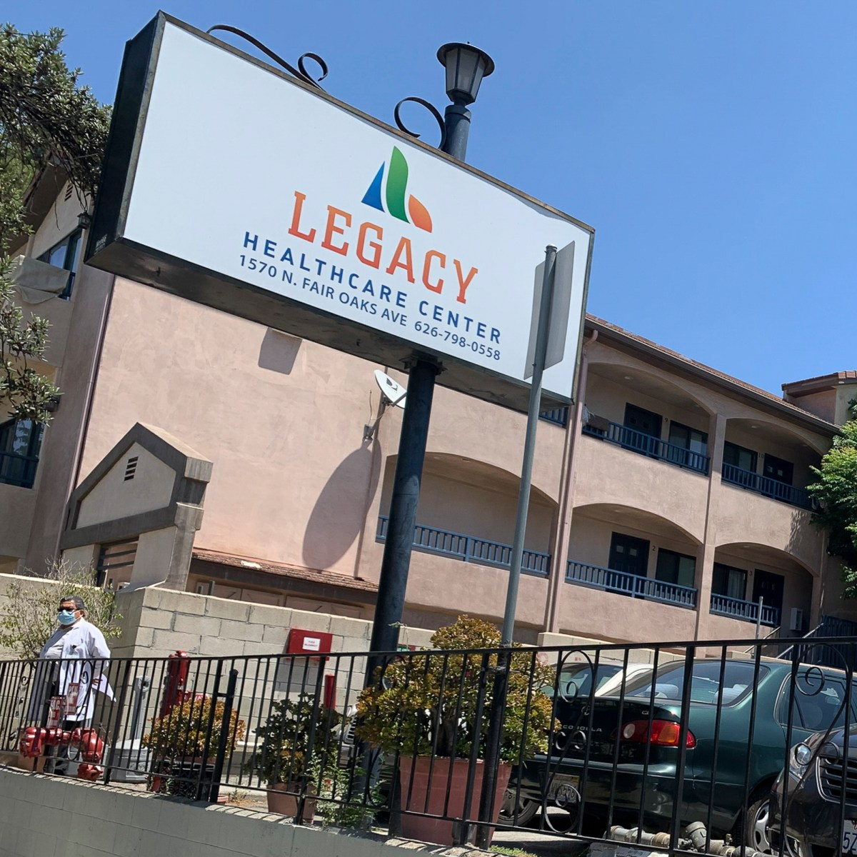 State health officials took control of the Rose Garden and Legacy Healthcare nursing homes in Pasadena after learning that the home's operator couldn't pay rent or staff, as the coronavirus pandemic loomed.. Photo by Karlene Goller for CalMatters
