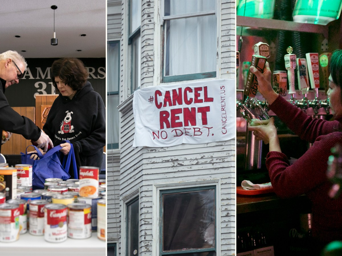 Food security, ability to pay rent and loss of low-wage jobs are three areas where economic disparities in California are most visible amid the coronavirus pandemic. Photos by Anne Wernikoff for CalMatters