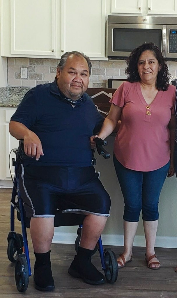 Jose and Diana Mireles. Jose is sensitive to heat due to several health conditions but because of the coronavirus, the couple are reluctant to leave home. Photo courtesy of Diana Mireles