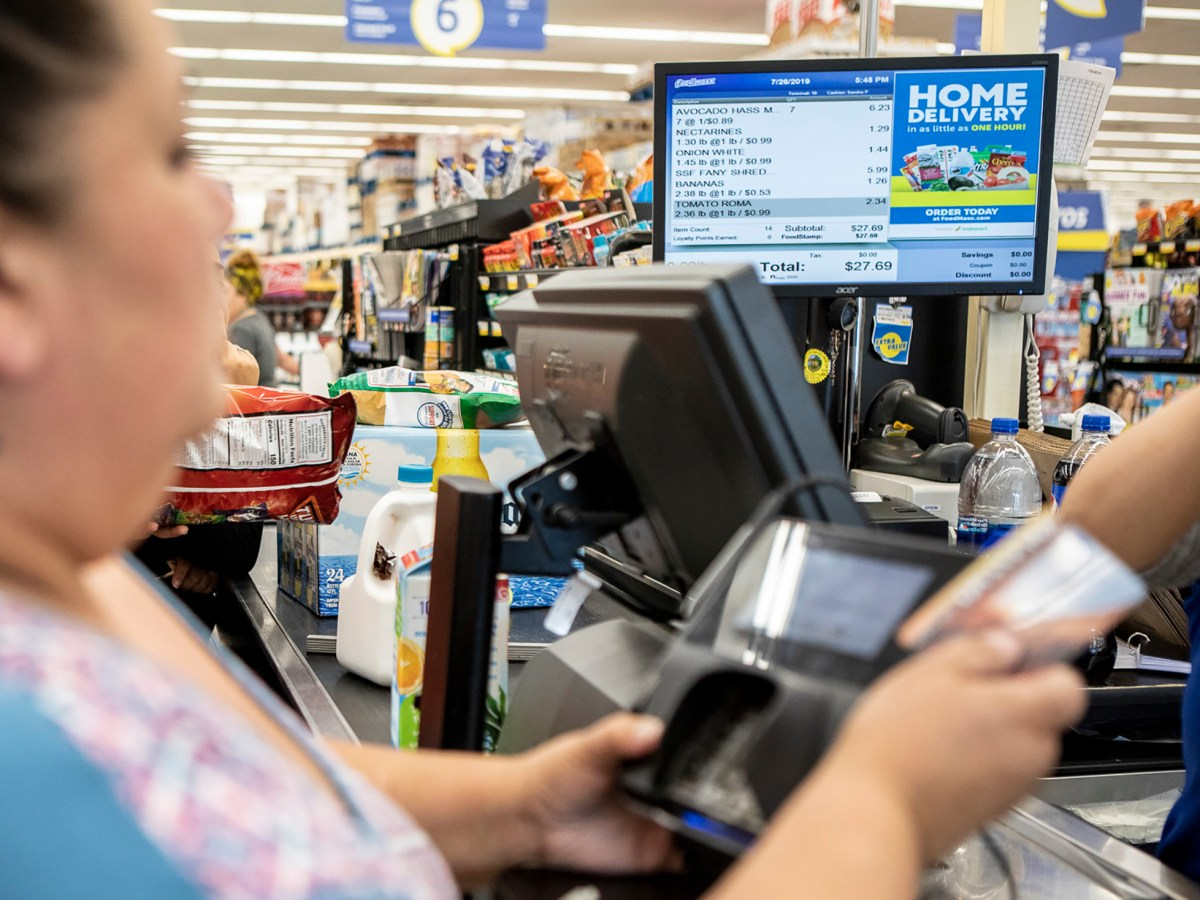 Earlier this week, the Legislature approved AB 826, which allows nonprofits, such as food banks, to distribute $600 prepaid grocery cards to each qualified adult regardless of immigration status. Photo by Anne Wernikoff for CalMatters