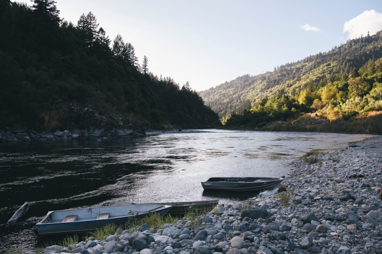 A view of the Klamath River in Weitchpec, on the Yurok reservation in Humboldt County, on Sept. 17, 2020. Photo by Alexandra Hootnick for CalMatters.