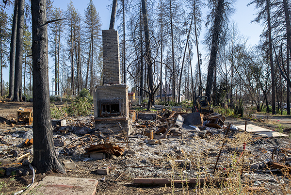 The remains of a home in Paradise on October 1, 2019. Photo by Anne Wernikoff for CalMatters