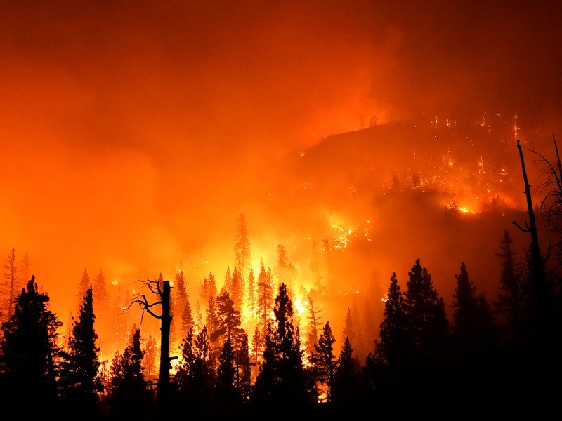 The Creek Fire burns in the Sierra National Forest on Sept. 6, 2020, near Big Creek, Calif. Photo by Marcio Jose Sanchez, AP Photo