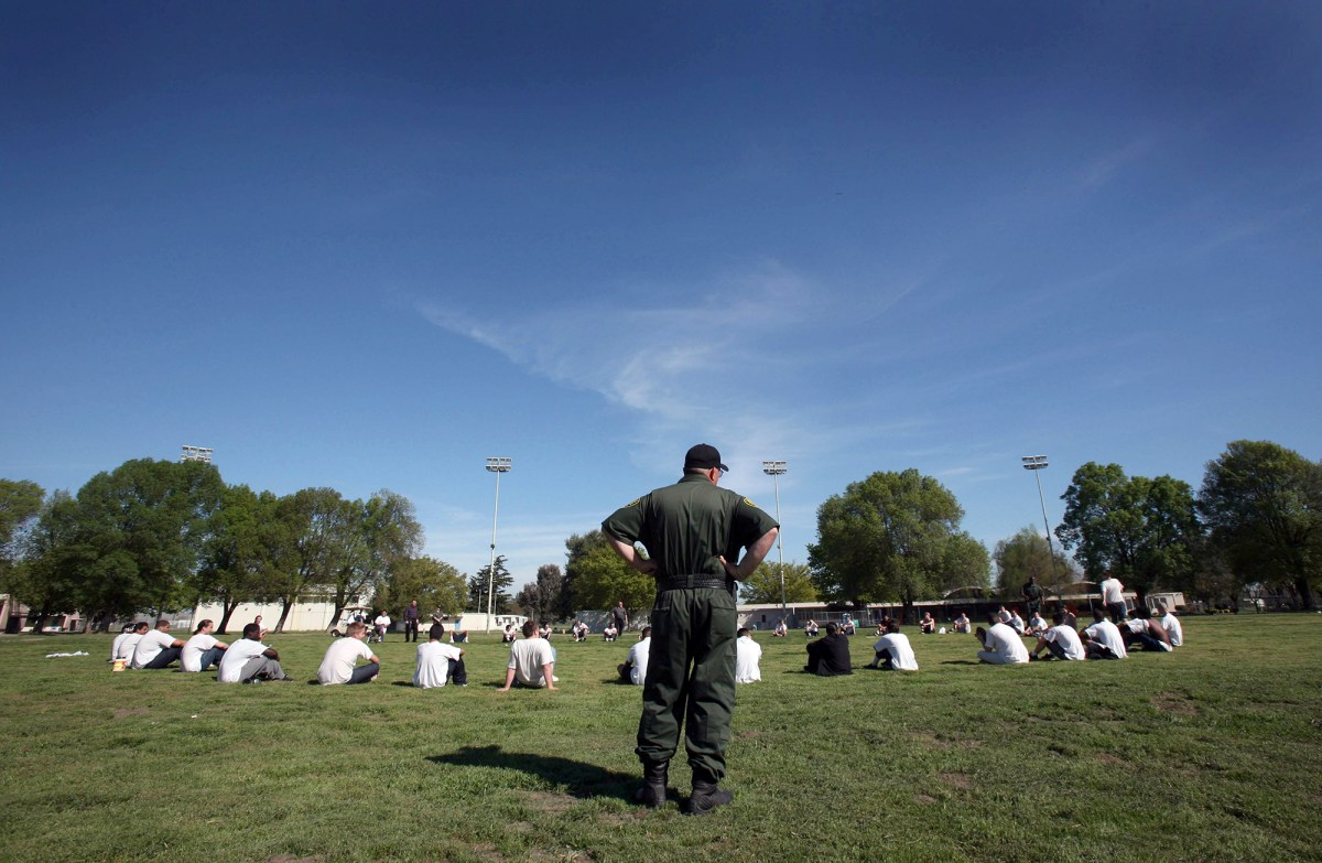Wards from the sex offender treatment program exercise at the O.H. Close Youth Correctional Facility in Stockton on March 15, 2007. A controversial new law that takes effect next year will dismantle the state's current juvenile justice system and transfer responsibility for convicted youth back to counties. Photo by Steve Yeater, AP Photo